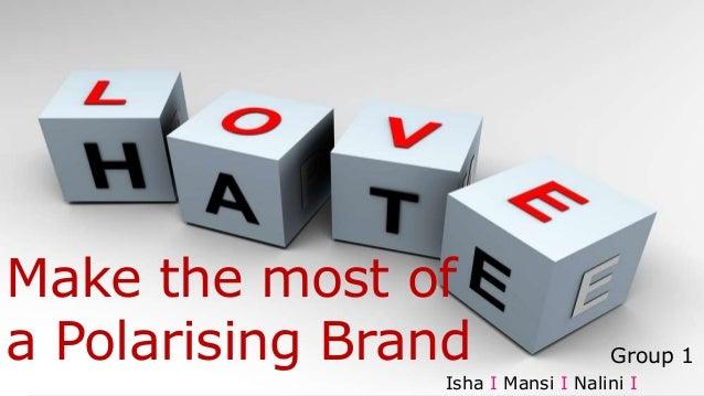 Make the most of a Polarising Brand Isha I Mansi I Nalini I Group 1