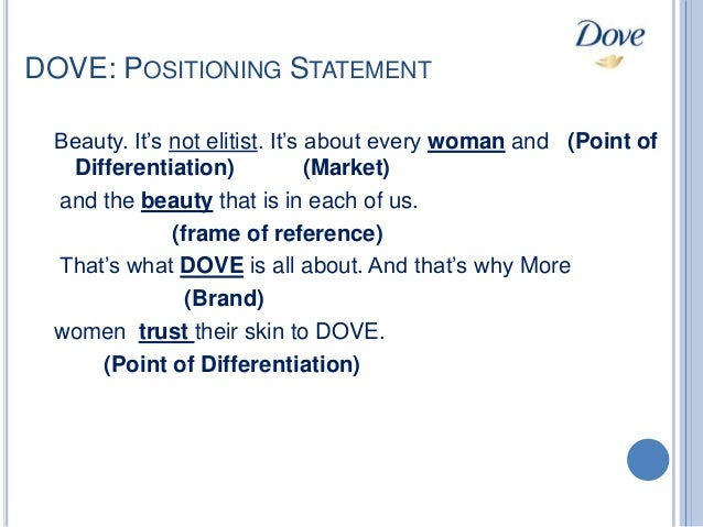 dove positioning