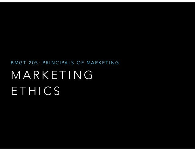 B M G T 2 0 5 : P R I N C I PA L S O F M A R K E T I N G  MARKETING 