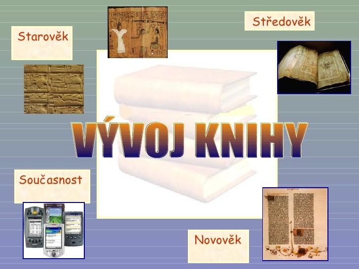 VÝVOJ KNIHY Starověk  Středověk Současnost  Novověk