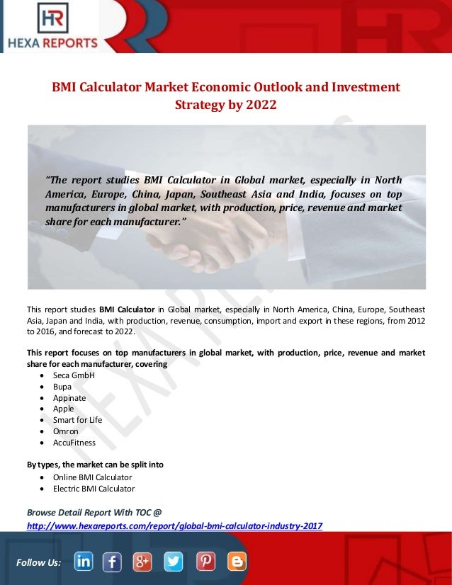 Bmi calculator market economic outlook and investment strategy by