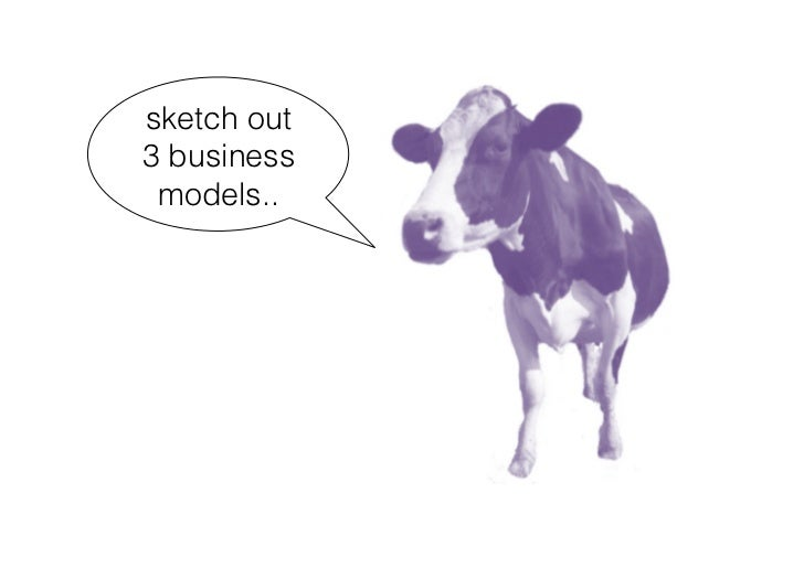 sketch out 3 business  models..