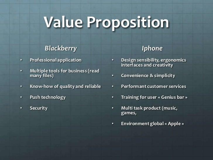 value proposition of iphone La proposition de valeur (value proposition en anglais) est l'un des   commentaires: on ne décrit pas ce qu'est un iphone, tout le monde.