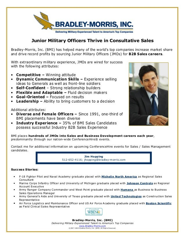 Bradley-Morris, Inc. (BMI) Delivering Military-Experienced Talent to America's Top Companies www.Bradley-Morris.com ©2007-...