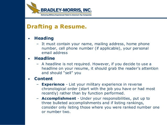 Bradley Morris Employer Session: Military To Civilian Transition