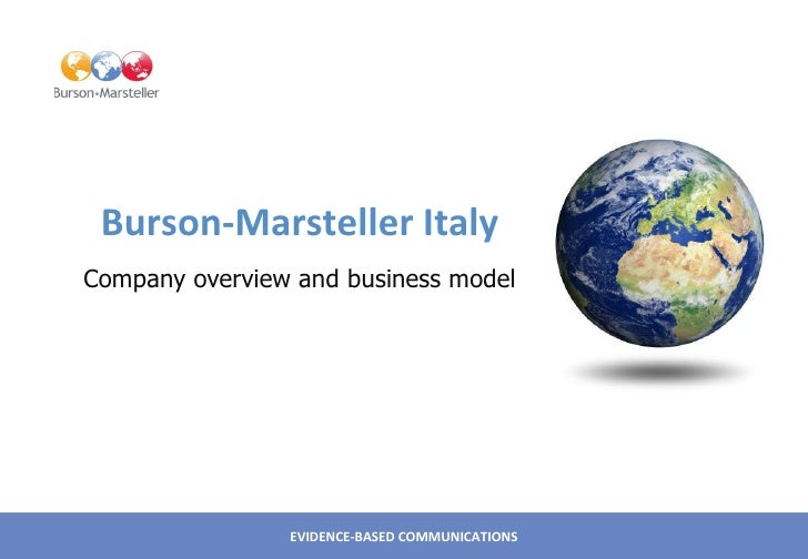 Burson-Marsteller Italy Company overview and business model