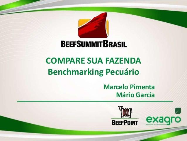 COMPARE SUA FAZENDA Benchmarking Pecuário Marcelo Pimenta Mário Garcia
