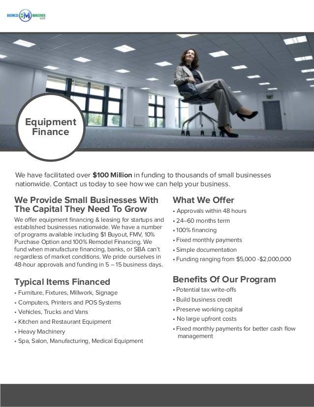 Business Makeover Equipment Finance