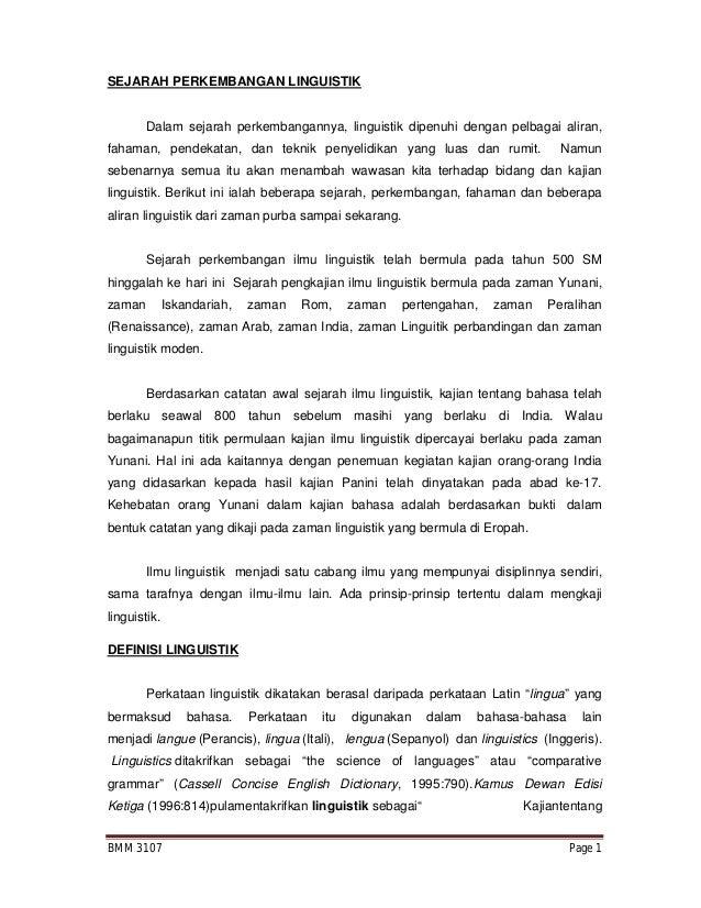 Bmm3107 Pengantar Linguistik