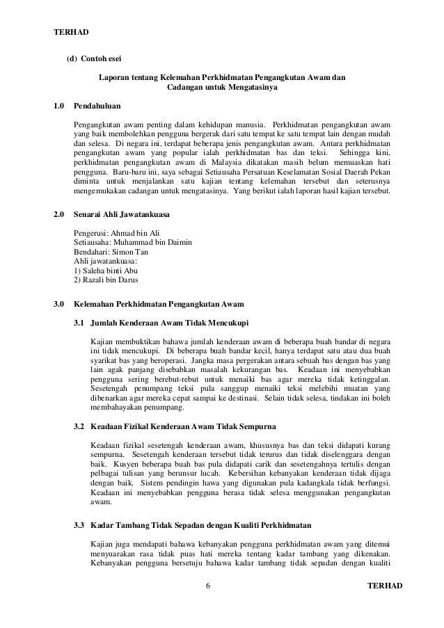 9104 Bm Manual Format Dan Contoh Penulisan Esei Berformat