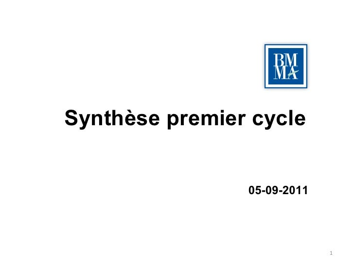 Synthèse premier cycle 05-09-2011