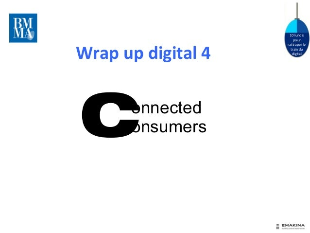 10 lundis  pour  rattraper le  train du  digital  Wrap up digital 4  Connected  onsumers