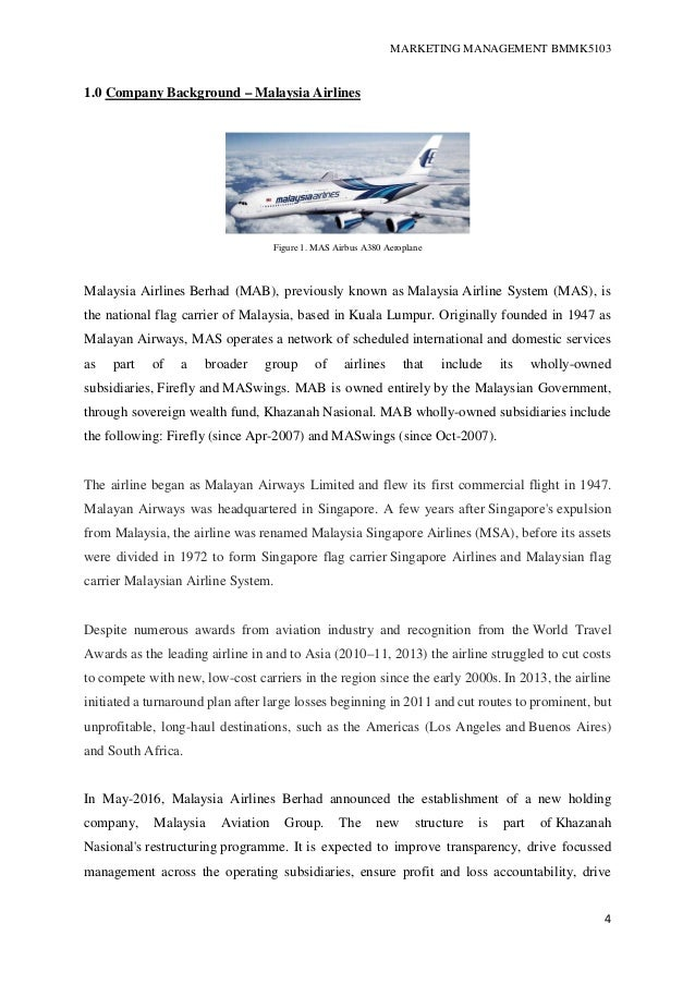 malaysia airline strategic plan Planning process strategic management in 1971, malaysia airlines system berhad (mas) was incorporated with an authorized capital of rm100 million appendix 63 : malaysia airline system 5 year financial performance.