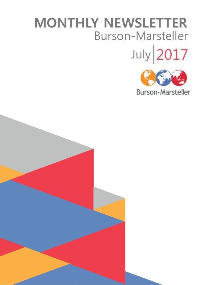 MONTHLY NEWSLETTER Burson-Marsteller July 2017