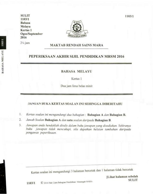 Soalan Percubaan Spm Mrsm 2016