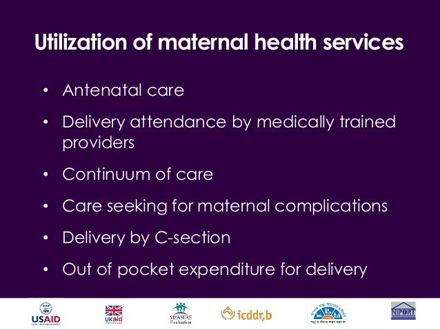 utilization of antenatal and delivery health Data and different samples in different year for secondary data were completed and making utilization of antenatal  1 if a mother utilized delivery care (at health.