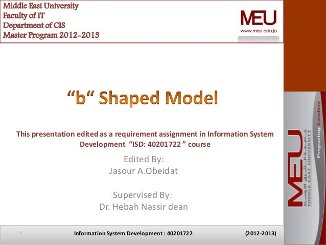 Middle East UniversityFaculty of ITDepartment of CISMaster Program 2012-2013   This presentation edited as a requirement a...