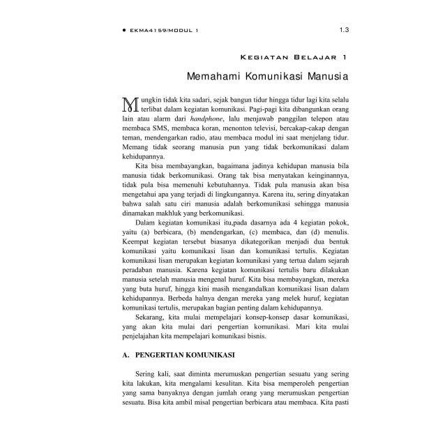 BMP EKMA4159 Komunikasi Bisnis Slide 3