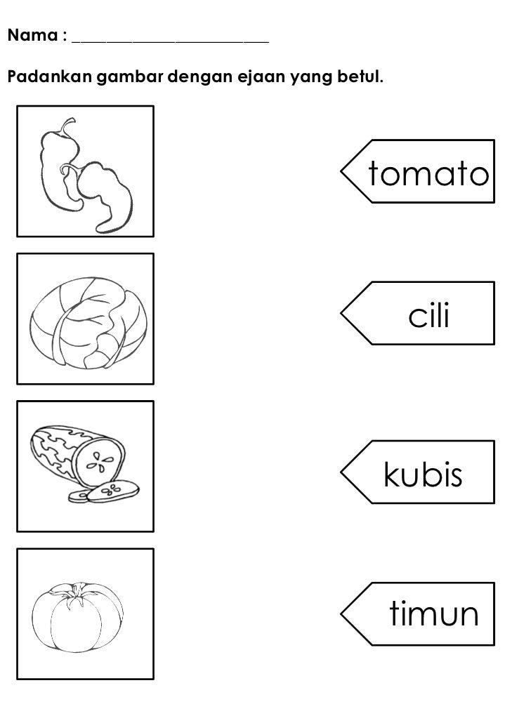 Nama : _______________________Padankan gambar dengan ejaan yang betul.                                      tomato        ...