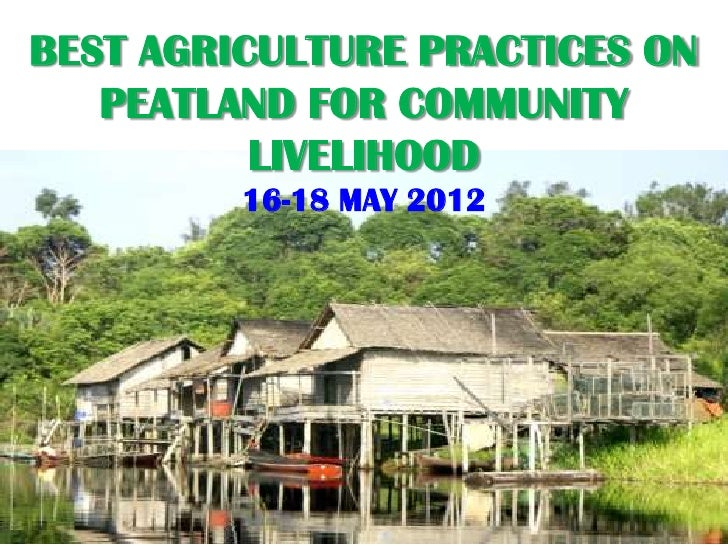 BEST AGRICULTURE PRACTICES ON   PEATLAND FOR COMMUNITY          LIVELIHOOD         16-18 MAY 2012