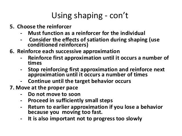 Behavior Modification Shaping