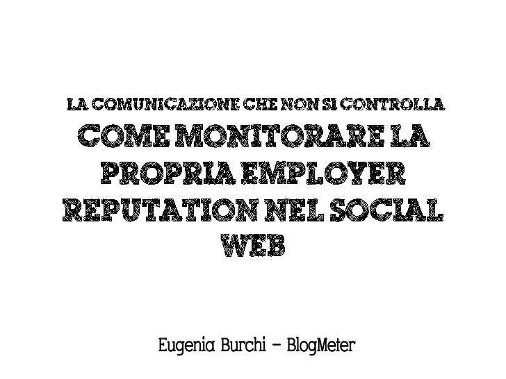 Eugenia Burchi – BlogMeter