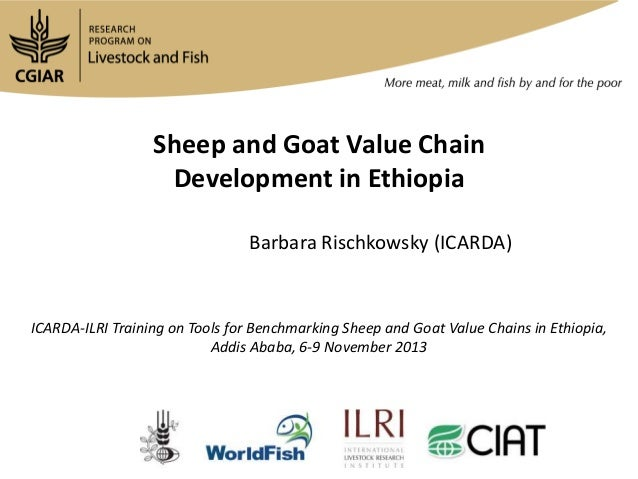Sheep and Goat Value Chain Sheep and Goatin Ethiopia Development Value Chain Development in Ethiopia Barbara Rischkowsky (...