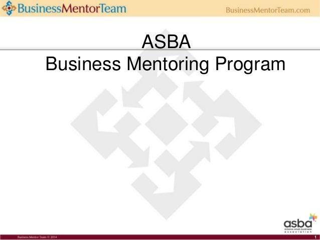 ASBA Business Mentoring Program 1