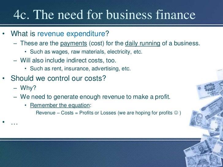 Bm Unit 3 1 Sources Of Finance