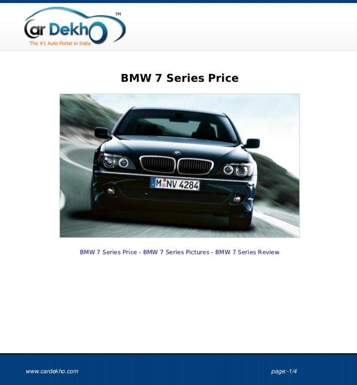 BMW 7 Series Price                   BMW 7 Series Price - BMW 7 Series Pictures - BMW 7 Series Reviewwww.cardekho.com     ...