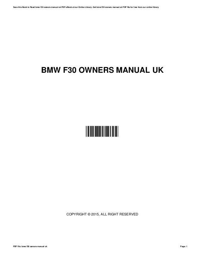bmw f30 owners manual uk rh slideshare net bmw f30 owners manual pdf uk 2009 BMW 650I Convertible