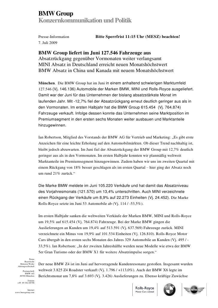 BMW Group                       Konzernkommunikation und Politik                       Presse-Information                B...