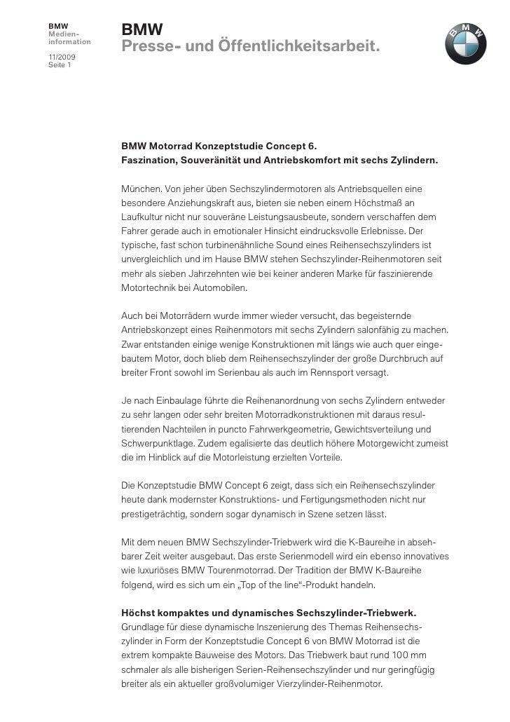 BMWMedien-       BMWinformation              Presse- und Öffentlichkeitsarbeit.11/2009Seite 1              BMW Motorrad Ko...