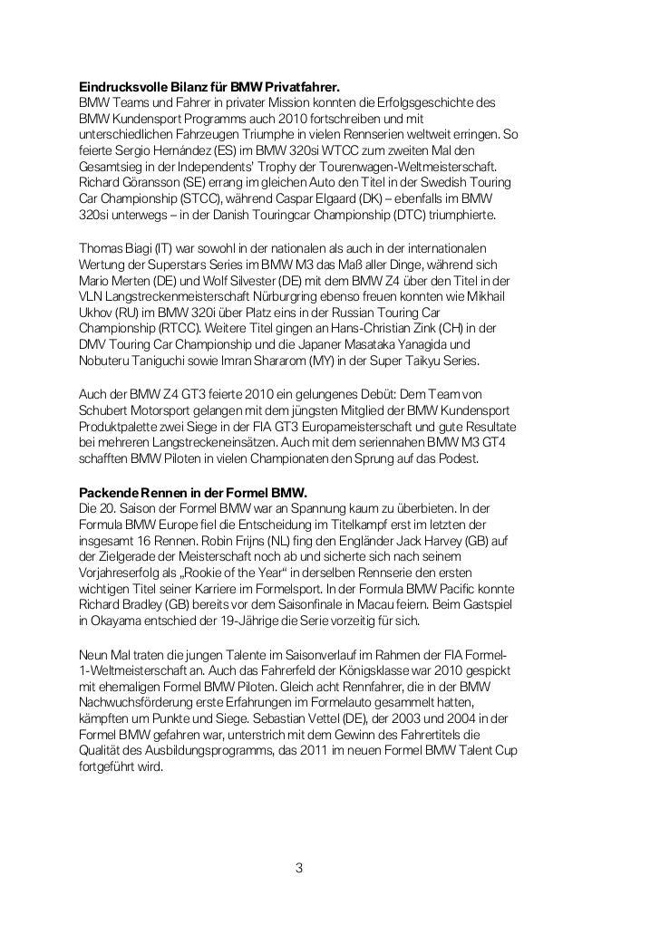 Eindrucksvolle Bilanz für BMW Privatfahrer.BMW Teams und Fahrer in privater Mission konnten die Erfolgsgeschichte desBMW K...