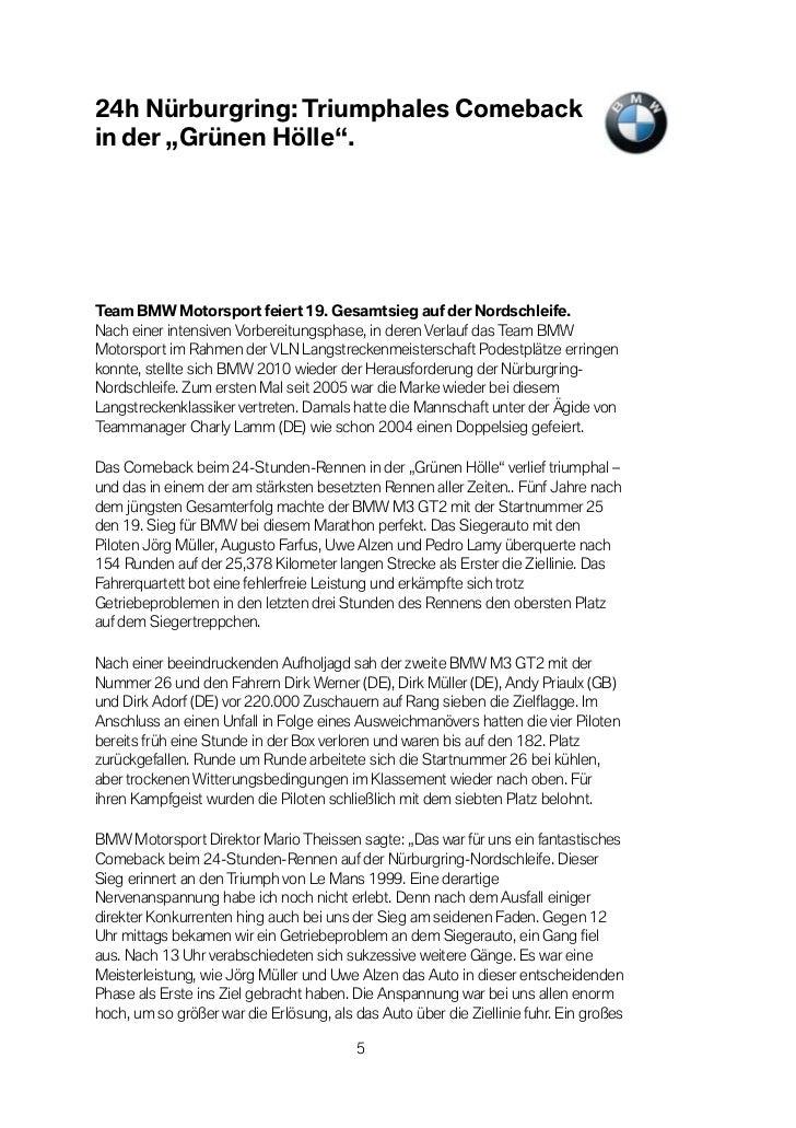 """24h Nürburgring: Triumphales Comebackin der """"Grünen Hölle"""".Team BMW Motorsport feiert 19. Gesamtsieg auf der Nordschleife...."""