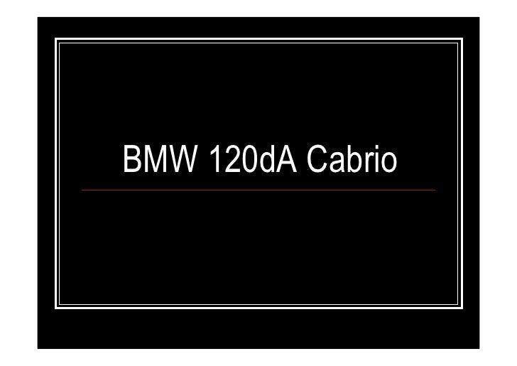 BMW 120dA Cabrio