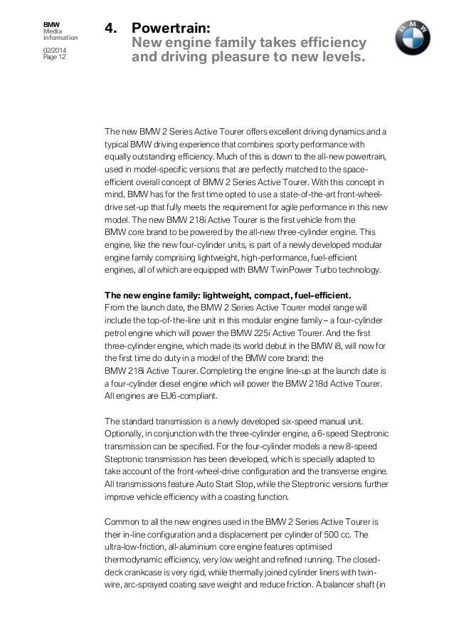 BMW Series Active Tourer Press Release - Bmw 2 series weight