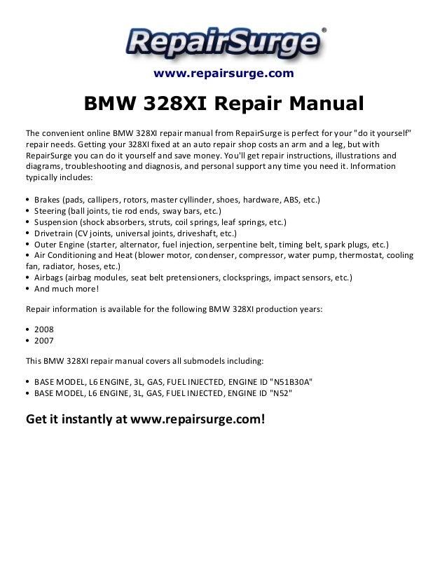 bmw 328xi repair manual 2007 2008 rh slideshare net 2007 bmw 328i service manual pdf 2007 bmw 328xi owners manual