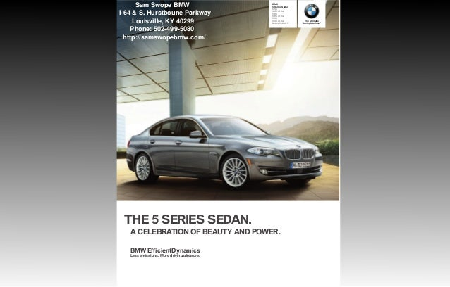 Sam Swope Louisville Ky >> 2013 BMW 5 Series Brochure KY | Louisville BMW Dealer