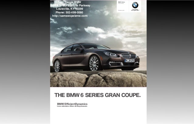 2013 Bmw 6 Series Gran Coupe Brochure Ky Louisville Bmw