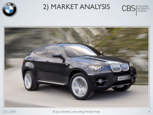 marketing analysis for bmw The target market for this one is a lot more open than the greek one, but since the car is a bit flashy in colour and emphasizes the aspect of speed and adrenaline, i would think it's.