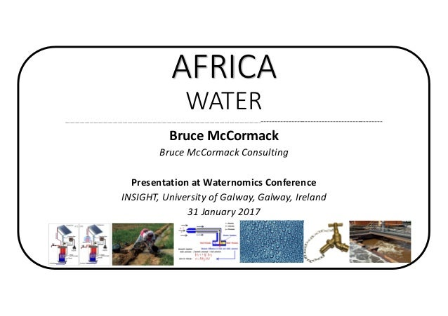 AFRICA WATER -------------------------------------------------------------------------------------------------------------...