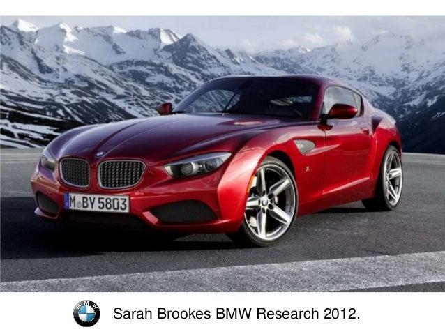 Sarah Brookes BMW Research 2012.