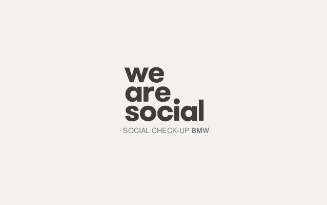 SOCIAL CHECK-UP BMW