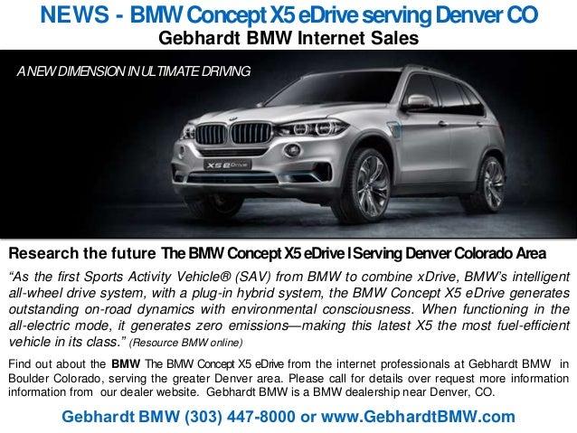 NEWS  BMW Concept X5 eDrive serving Denver Colorado  Information