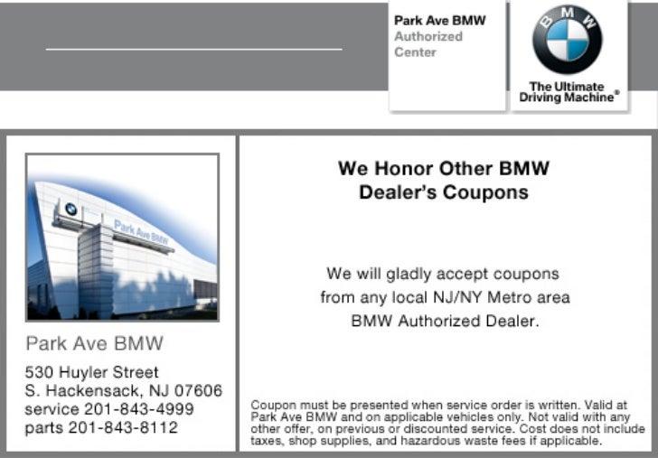 Coupon Special NJ  New Jersey BMW Dealer