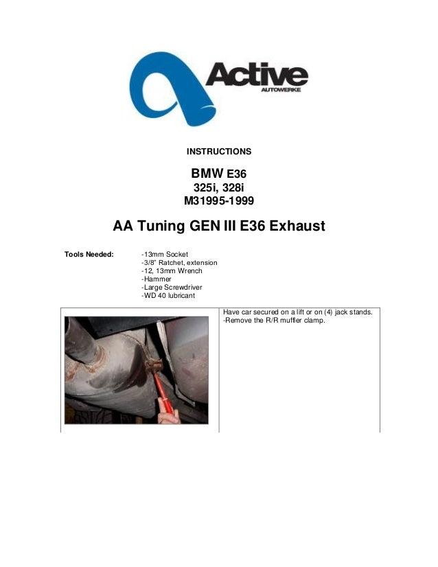 Bmw E36 Exhaust M3 Instructions