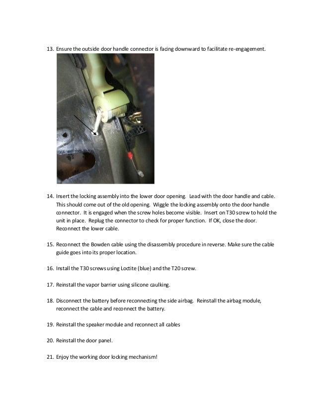 Bmw e39 door lock actuator replacement