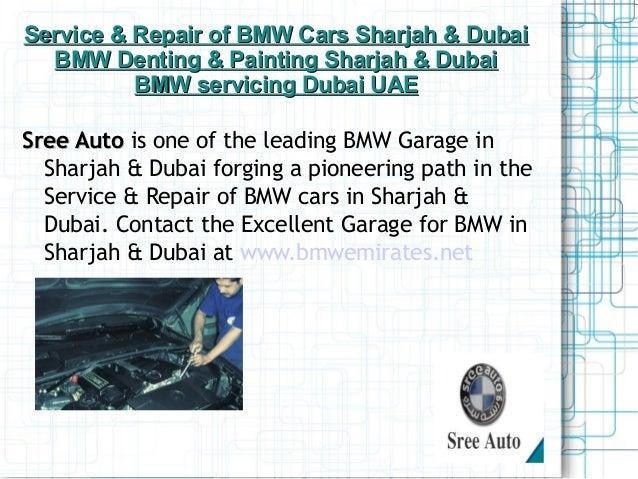 BMW Garage in Sharjah & Dubai