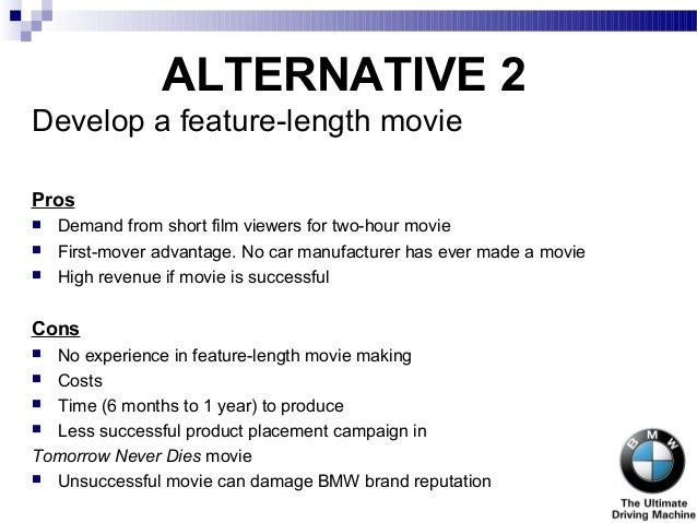 bmw films case study analysis Harvard case : bmw of north america: dream it build it this case describes how bmw read the case study 3 review the following videos which directly.